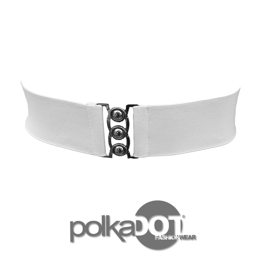new black white 2 inch wide elastic waist belt size 6 32
