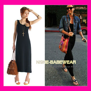 Black Jersey Maxi Dress on New Black Slim Fit Jersey Long Maxi Dress Sz 8 10   Ebay
