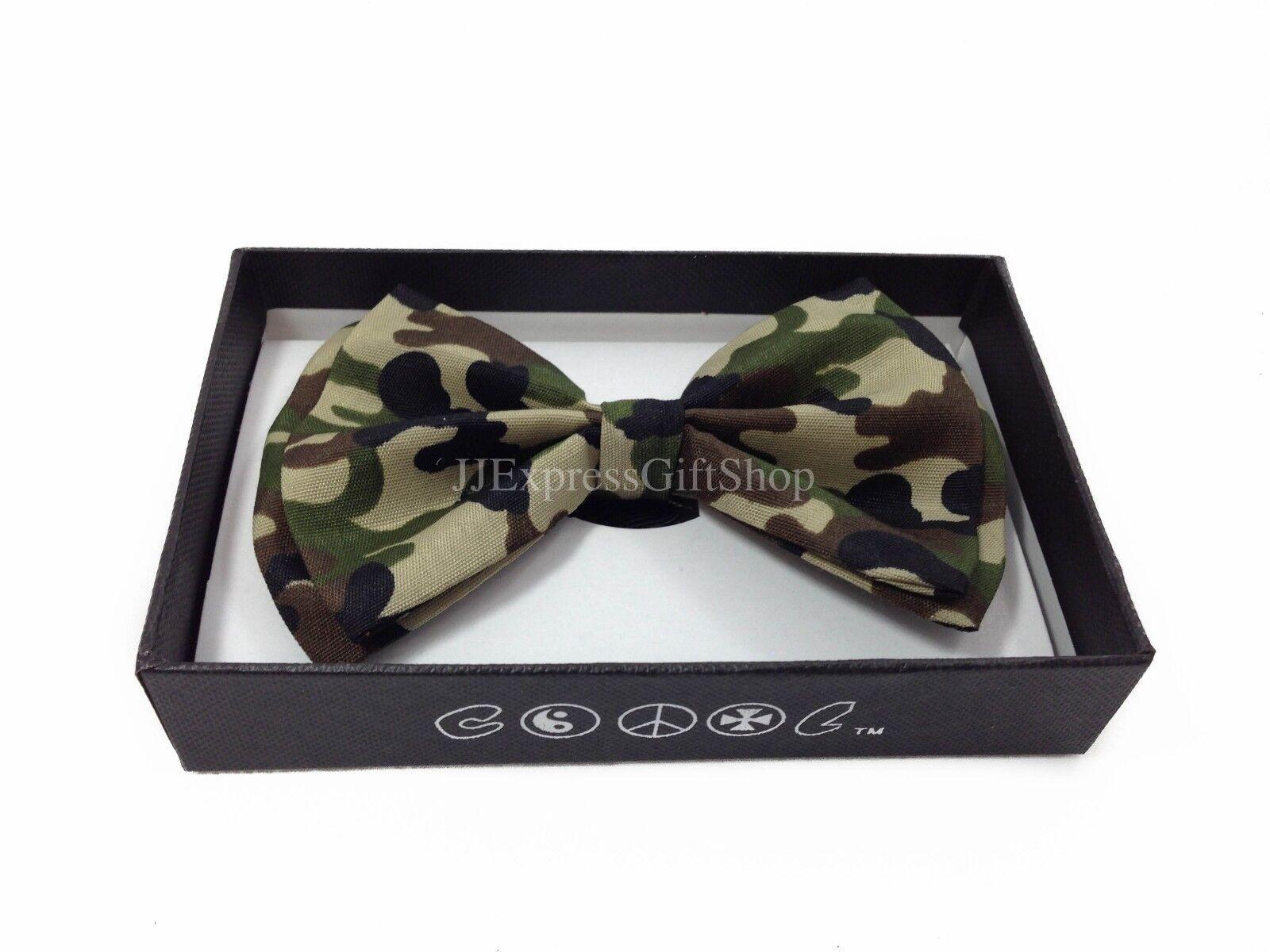 new bowtie army camouflage adjustable bow tie ebay