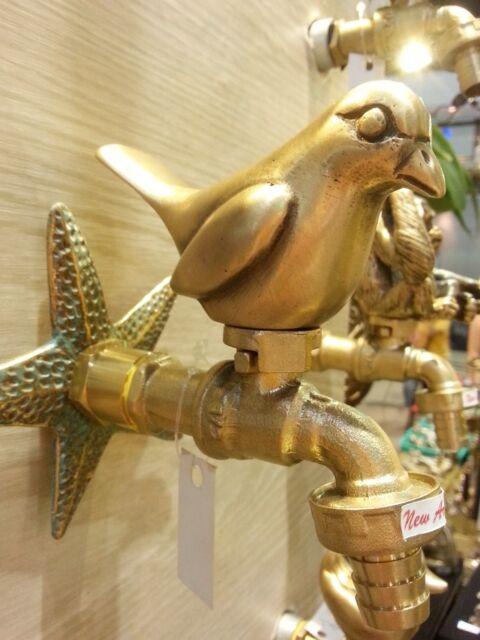 Brass garden tap faucet new bird spigot vintage water home