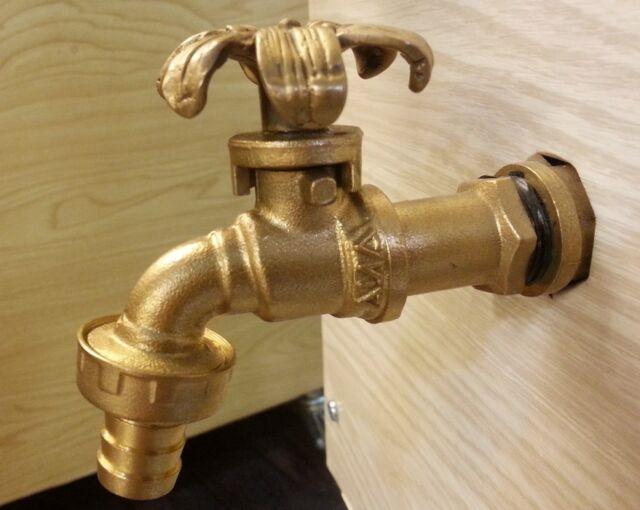Brass Garden Tap Faucet Flower Natural Vintage Water Home Decor Living Outdoor