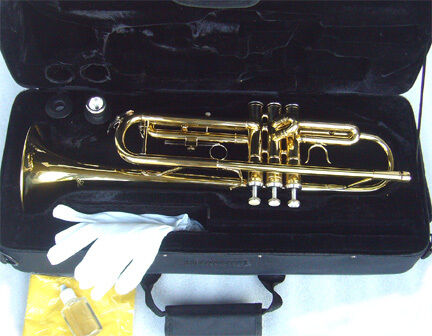 NEW BRASS TRUMPET- STUDENT SCHOOL BAND TRUMPET W/CASE.APPROVED+ WARRANTY. in Musical Instruments & Gear, Brass, Trumpet & Cornet | eBay