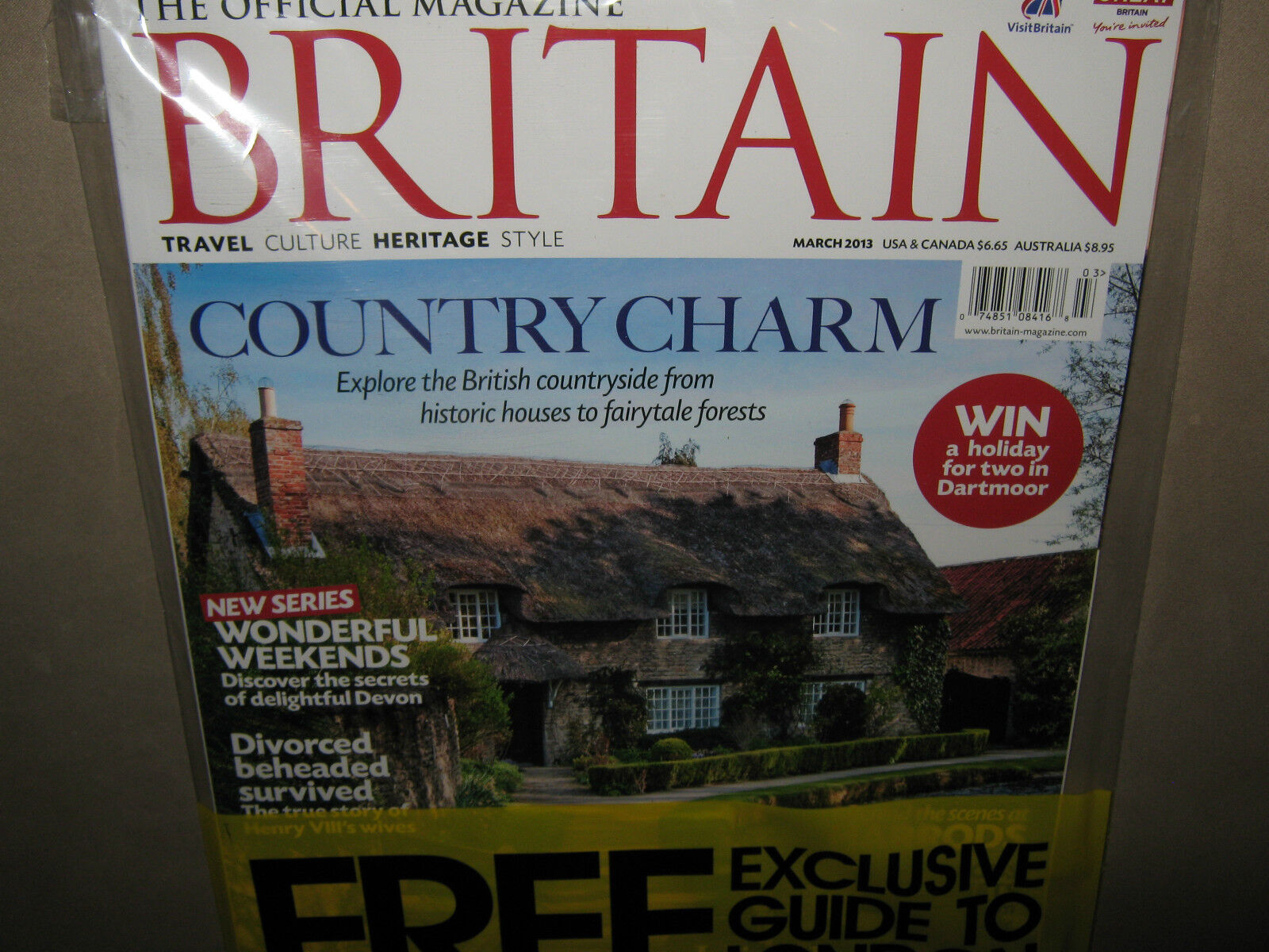 NEW! BRITAIN The Official Magazine March 2013 Free GUIDE to LONDON UK Travel