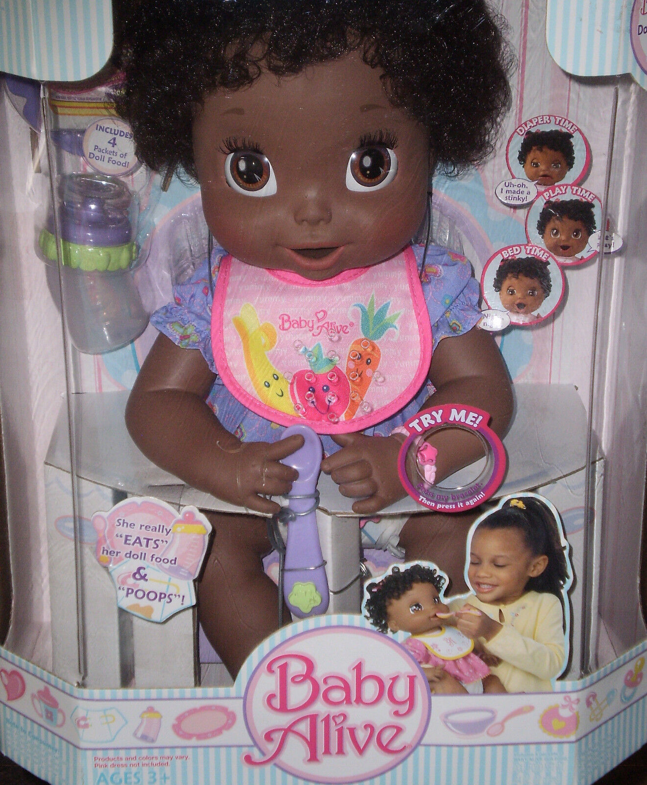 New Baby Alive African American 16in Girl Doll Soft Face