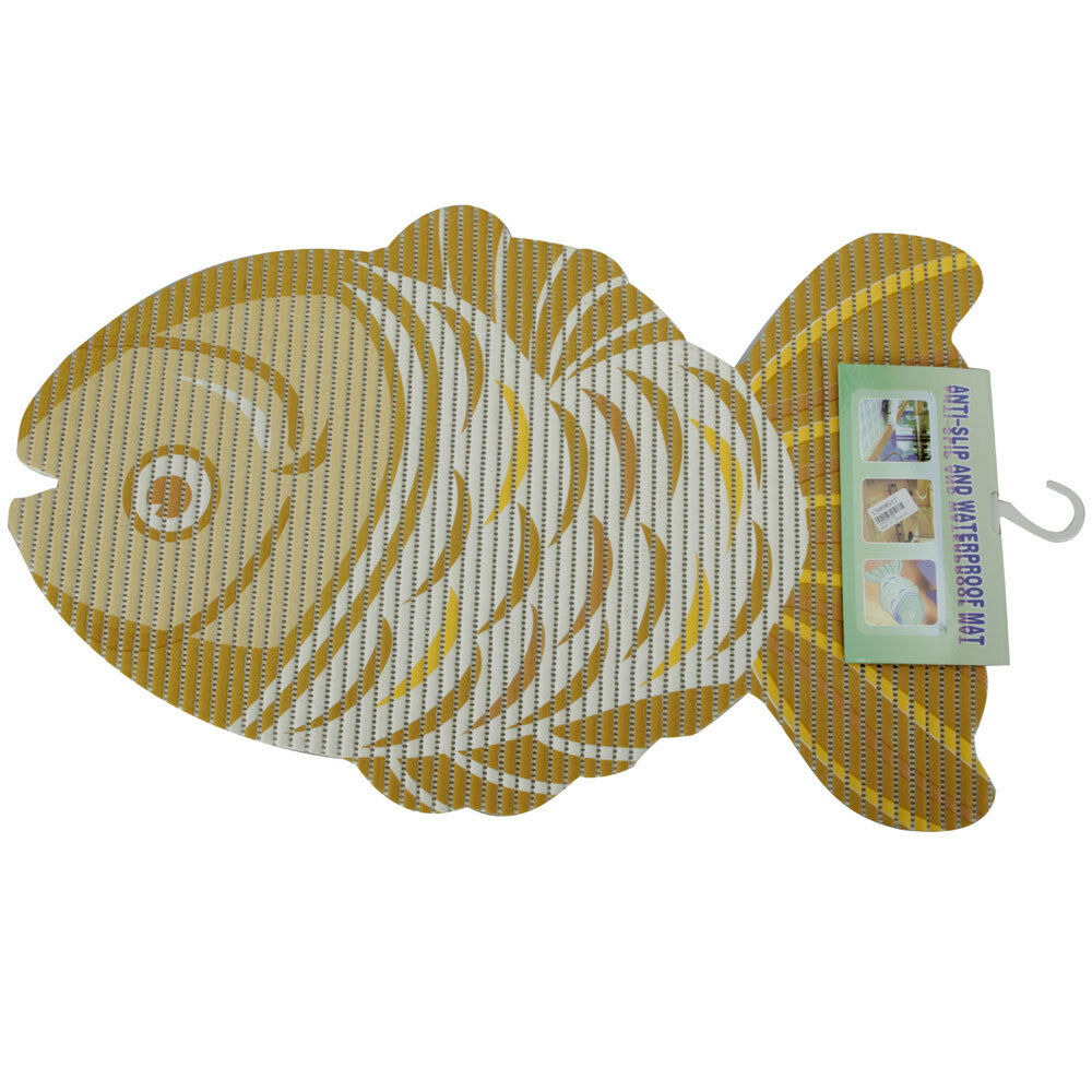 New Bath Bathroom Orange Fish Style Anti Slip Mat Rug