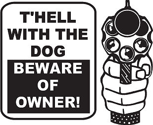 NEW Beware Of Owner Dog Decal Funny Sticker For Auto Car Truck Boat Window Home in Home & Garden, Home Decor, Decals, Stickers & Vinyl Art | eBay