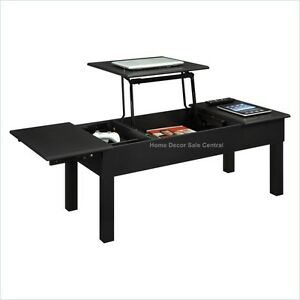 new black lift top rising pop up coffee table c2 ebay