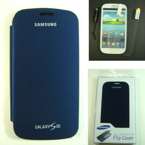 NEW Blue Wallet Leather Flip Case Battery Cover For Samsung Galaxy S3 III i9300 in Cell Phones & Accessories, Cell Phone Accessories, Cases, Covers & Skins | eBay