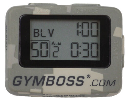 NEW CAMO GYMBOSS INTERVAL TIMER AND STOPWATCH, STRAIGHT FROM GYMBOSS HQ! in Sporting Goods, Exercise & Fitness, Gym, Workout & Yoga | eBay