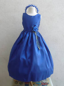NEW CHRISTMAS JM3 ROYAL BLUE flower girl wedding dress S M XL 4 8 12 in Clothing, Shoes & Accessories, Kids' Clothing, Shoes & Accs, Girls' Clothing (Sizes 4 & Up) | eBay