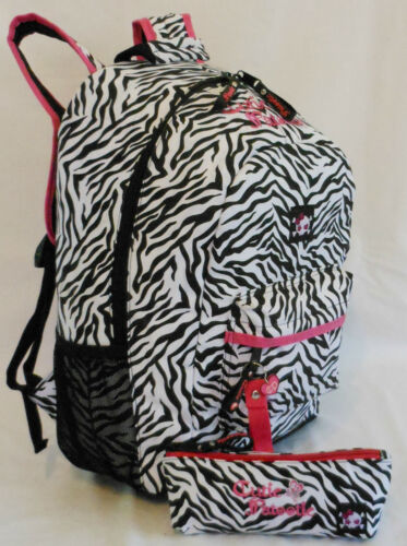 NEW CUTIE PATOOTIE ZEBRA BACKPACK FREE PENCIL BAG ~ BOOK BAG ~ BLACK/WHITE/PINK in Clothing, Shoes & Accessories, Unisex Clothing, Shoes & Accs, Unisex Accessories | eBay