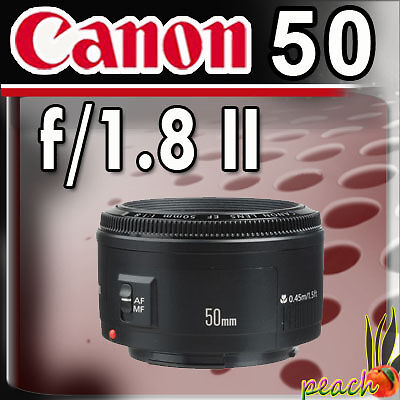NEW! Canon Normal EF 50mm f/1.8 II Autofocus Lens in Cameras & Photo, Lenses & Filters, Lenses | eBay