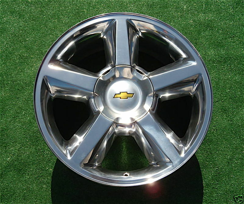 NEW Chevy Avalanche Tahoe Suburban POLISHED 20 inch LTZ OEM GM Style
