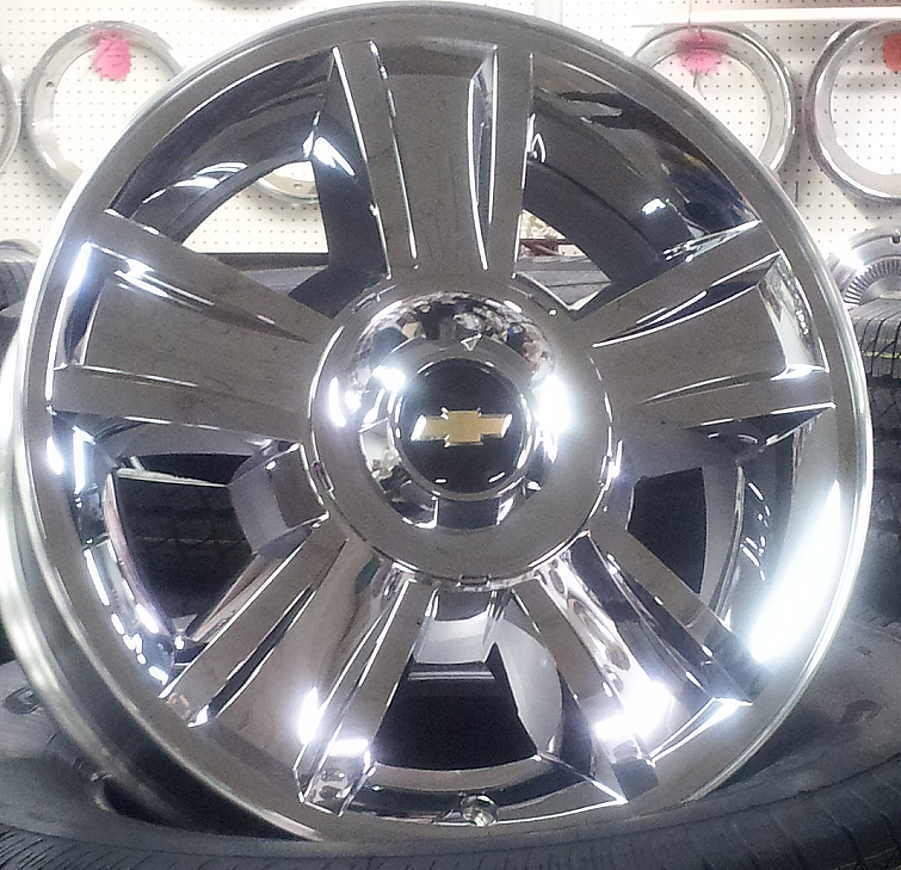 "New Chevy Silverado Tahoe Chrome 20"" Factory Wheels Rims Hollander 5416"