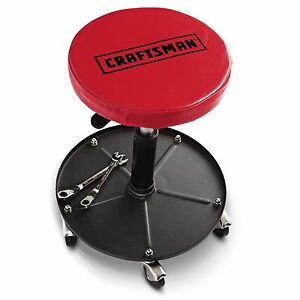 New Craftsman Mechanics Work Stool Garage Adjustable Seat