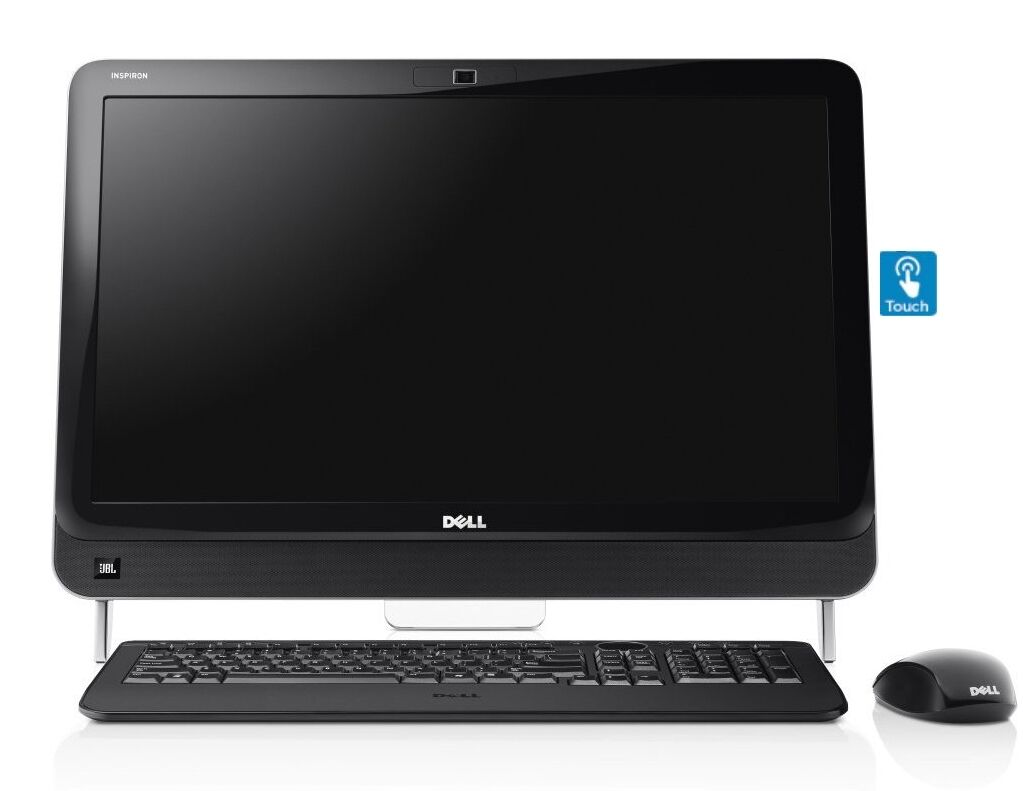 New dell 23 touch screen i3 2120 8gb 500gb hdmi for 2 window in 1 pc