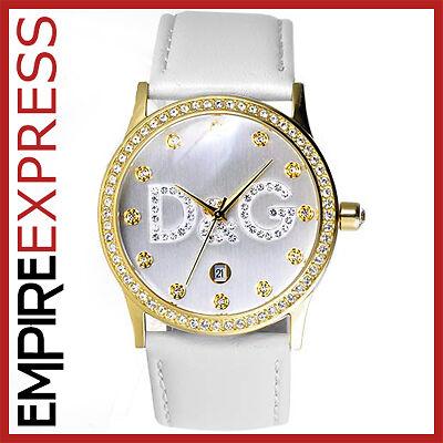 DOLCE & GABBANA LADIES D&G GLORIA DWO502 GOLD CRYSTAL WATCH RRP £195