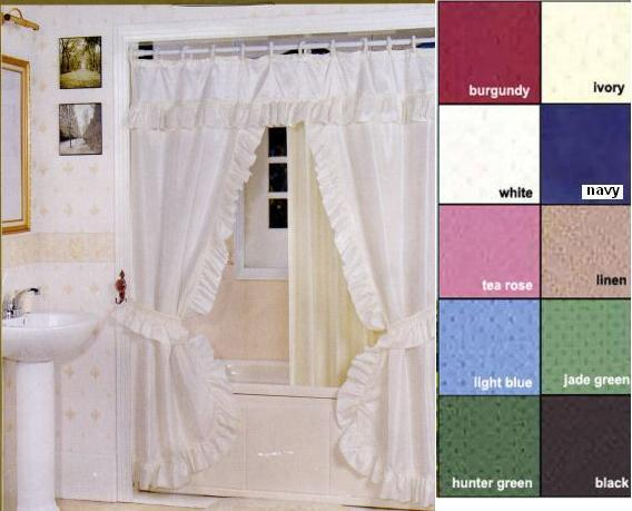 Creative Bath Tiara Deluxe Double Swag Shower Curtain Shower Curtains