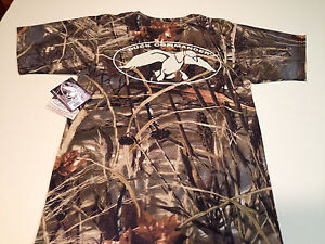 New Duck Commander Duck Dynasty Logo Camo Realtree Max4 T Shirt Size