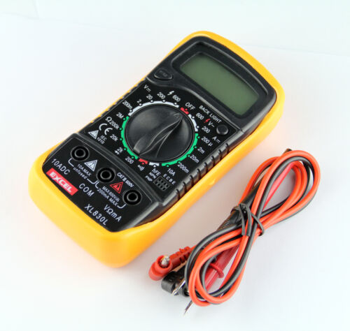 NEW Digital LCD Multimeter (XL-830L) Voltmeter Ammeter Ohmmeter OHM VOLT Tester in Business & Industrial, Electrical & Test Equipment, Test Equipment | eBay