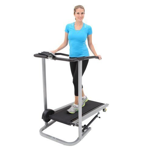 NEW Exerpeutic Incline Manual Treadmill Fitness Exercise Folding Running Machine in Sporting Goods, Exercise & Fitness, Gym, Workout & Yoga | eBay