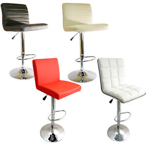 kitchen breakfast bar stool barstools pu swivel black red white ebay
