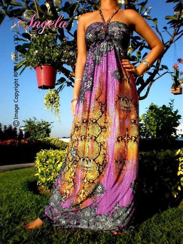 NEW Floral Strapless/Halter Neck Women Long Maxi Dress Size Sz M L XL