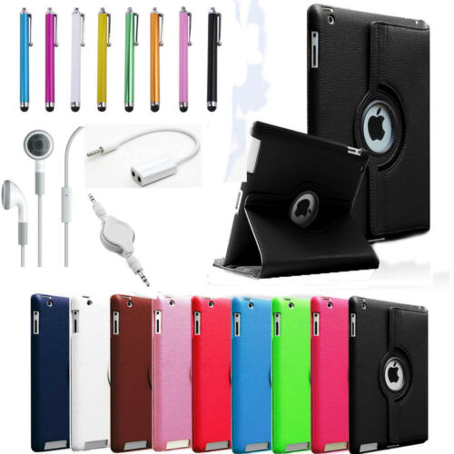 NEW For Apple iPad Mini 360 Degree Rotating PU Leather Case Cover w Swivel Stand in Computers/Tablets & Networking, iPad/Tablet/eBook Accessories, Cases, Covers, Keyboard Folios | eBay