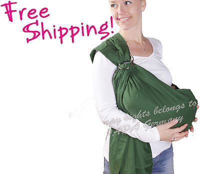NEW GERMANY GREEN INFANT BABY RING SLING CARRIER BABY POUCH HOLDER WRAPS in Baby, Baby Gear, Baby Carriers & Slings | eBay