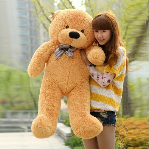 "NEW GIANT TEDDY BEAR HUGE SOFT 100% COTTON TOY CHRISTMAS GIFT 39"" LIGHT BROWN in Dolls & Bears, Bears, Other 