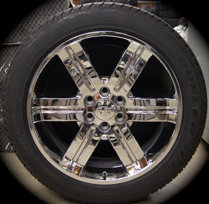 Sierra Cadillac Escalade Chrome 22 Wheels Rims Tires CK919