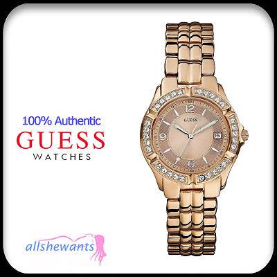 NEW GUESS WATCH for WOMEN * Rose Gold Tone * Date Window * U11069L1 NWT