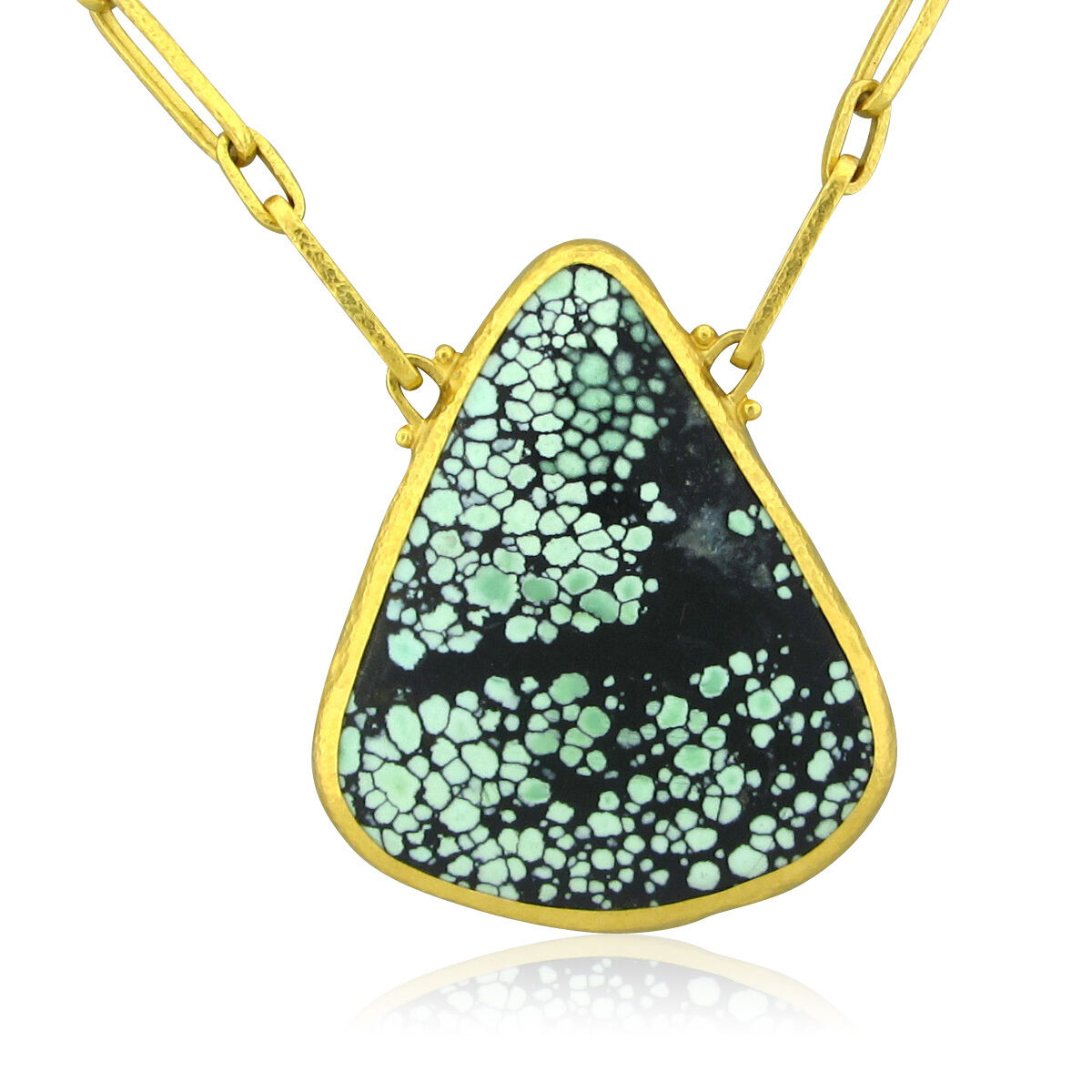 new gurhan 24k yellow gold turquoise pendant necklace