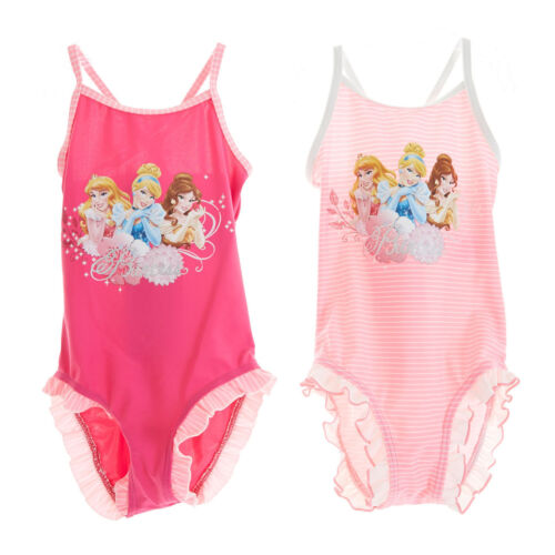 Disney Princess Tankini Bikini Swimming Costume Dark Pink Age 2-7