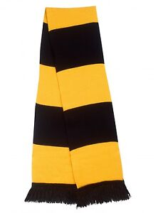 NEW-Gold-Black-Traditional-Retro-Football-Bar-Scarf