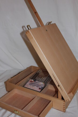 NEW HARDWOOD ARTIST TABLE TOP EASEL SKETCH BOX HIGH QUALITY in Crafts, Art Supplies, Easels | eBay