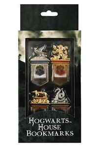 NEW HARRY POTTER HOGWARTS HOUSE METAL BOOK MARK SET IN CASE GRYFFINDOR SLYTHERIN in Books, Accessories, Bookmarks | eBay