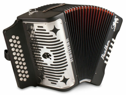 NEW HOHNER 3100GB PANTHER 31 KEY DIATONIC ACCORDION IN GCF BLACK in Musical Instruments & Gear, Accordion & Concertina | eBay
