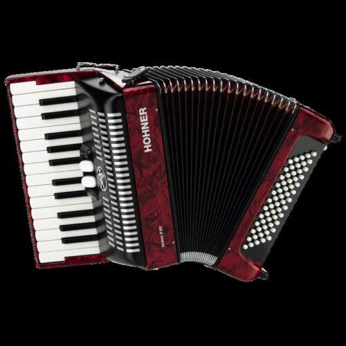 NEW HOHNER BR60 BROVO II PIANO 60 BASS ACCORDION IN RED WITH BAG in Musical Instruments & Gear, Accordion & Concertina | eBay