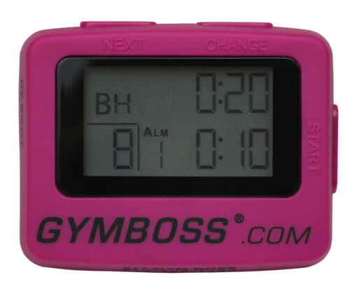 NEW HOT PINK GYMBOSS INTERVAL TIMER AND STOPWATCH, STRAIGHT FROM GYMBOSS HQ! in Sporting Goods, Exercise & Fitness, Gym, Workout & Yoga | eBay