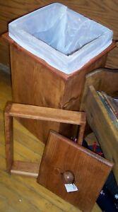 **NEW** Handmade Custom Pop-Top Small Wood Trash Bin in Home & Garden, Housekeeping & Organization, Home Organization   eBay