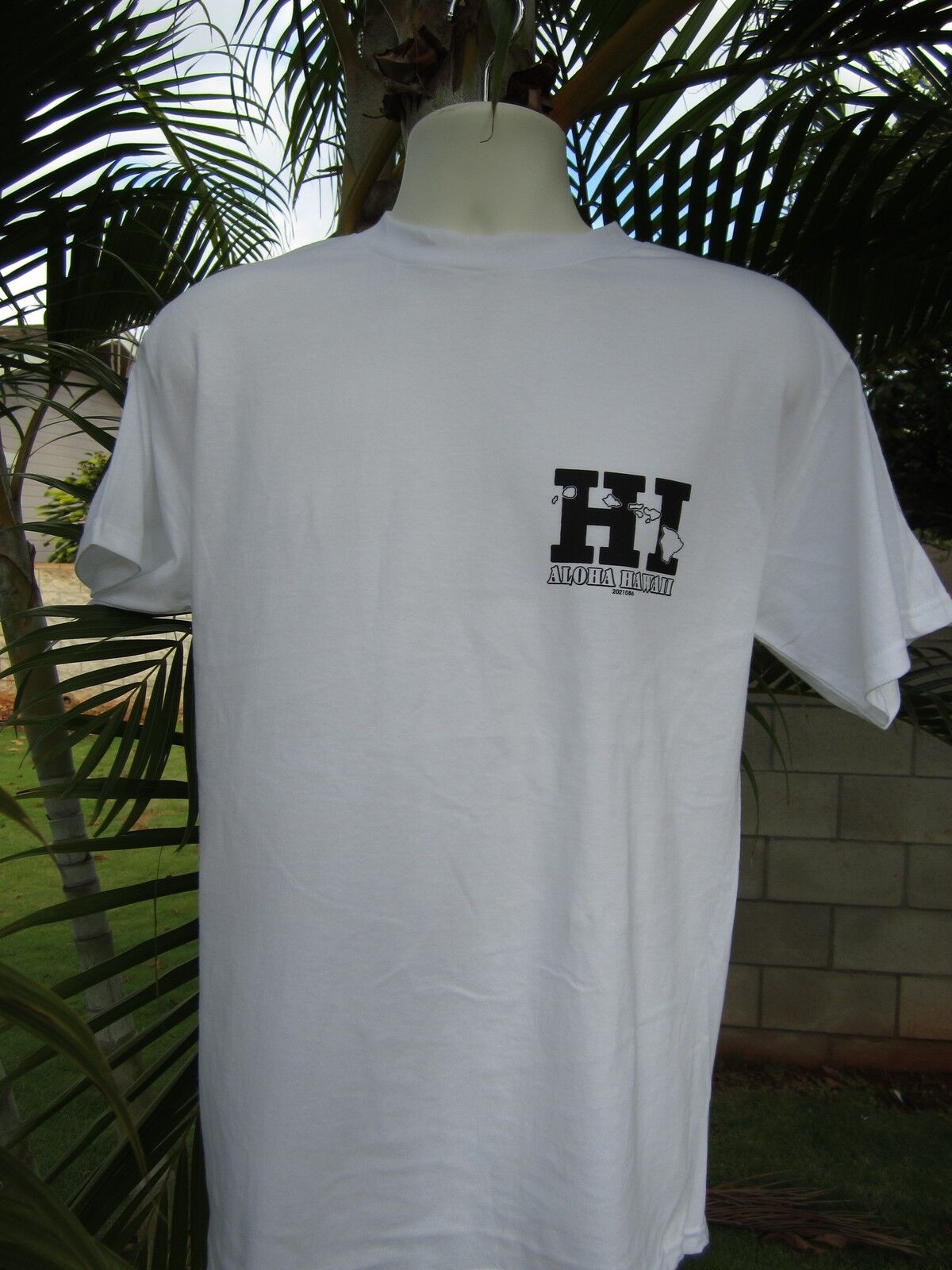 New Hawaiian Hawaii Design Surfing Beach White T Shirt Hi