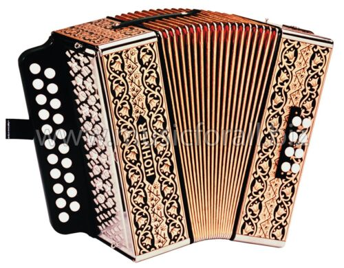 NEW Hohner 2815 AD Pokerwork Button Accordion Accordian, Case, Straps Free Ship! in Musical Instruments & Gear, Accordion & Concertina | eBay