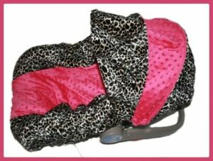 NEW Infant MINKY CAR SEAT COVER-For Graco Evenflo -LEAH in Baby, Car Safety Seats, Car Seat Accessories | eBay