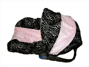 NEW Infant MINKY CAR SEAT COVER-For Graco Evenflo-LILLY in Baby, Car Safety Seats, Car Seat Accessories | eBay