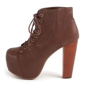 new jeffrey cbell lita shoes brown leather ankle boots