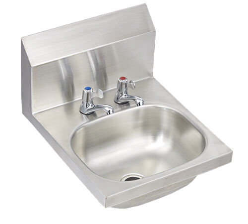 ... USA style Wall Mounted Stainless Steel HAND WASH SINK BASIN with WASTE