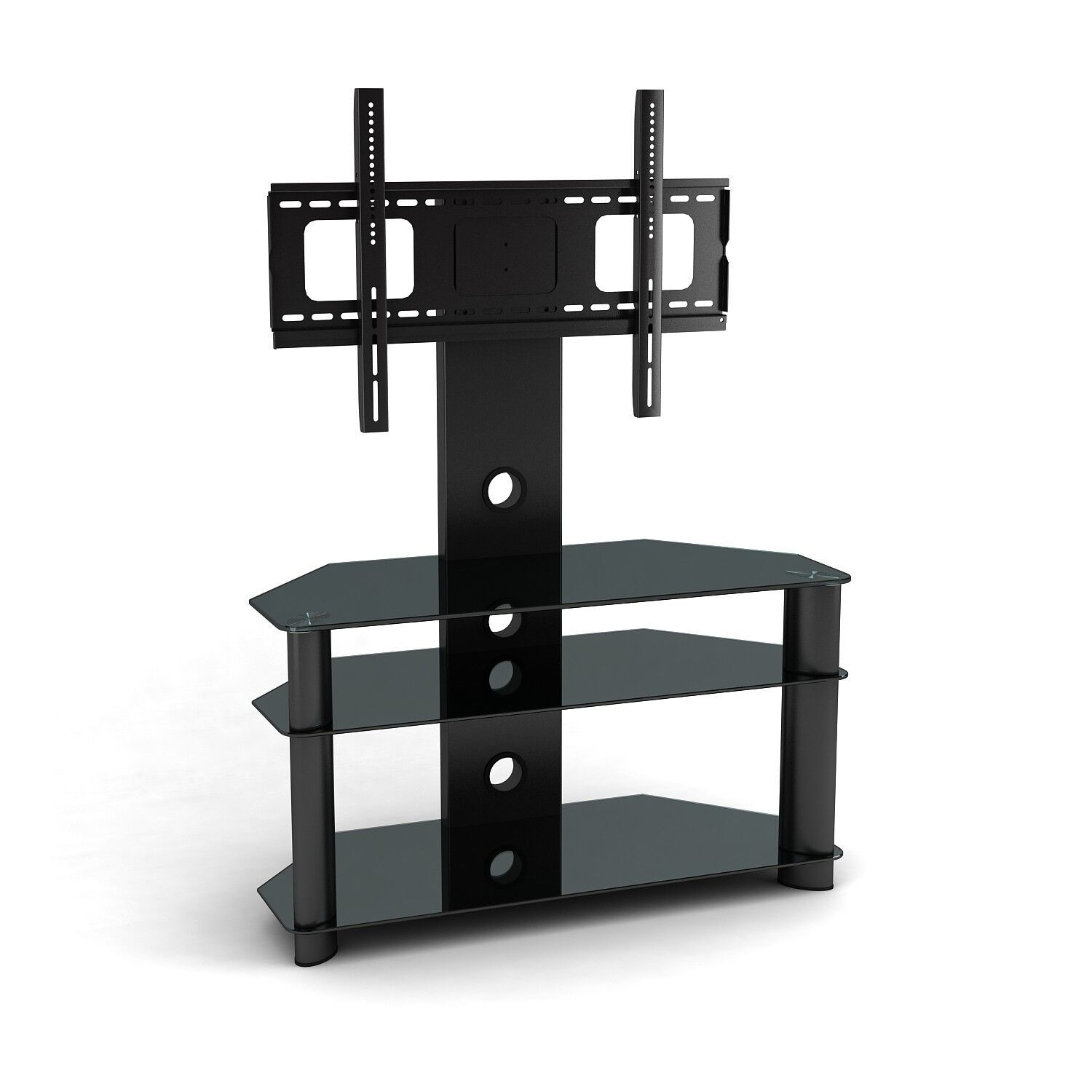 Tv Shelf Mount : Plasma 32 55 60 TV Wall Mount With Built In Stand Component Shelves