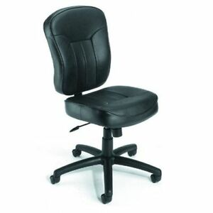 Armless Chairs on New Leather Plus Armless Ergonomic Office Desk Chairs   Ebay