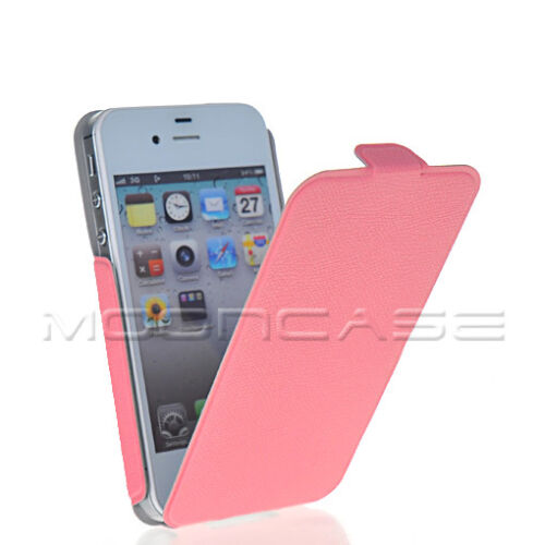 NEW LITCHI SKIN FLIP HARD LEATHER CASE COVER + SCREEN FOR APPLE IPHONE 4 4G 4S in Cell Phones & Accessories, Cell Phone Accessories, Cases, Covers & Skins | eBay
